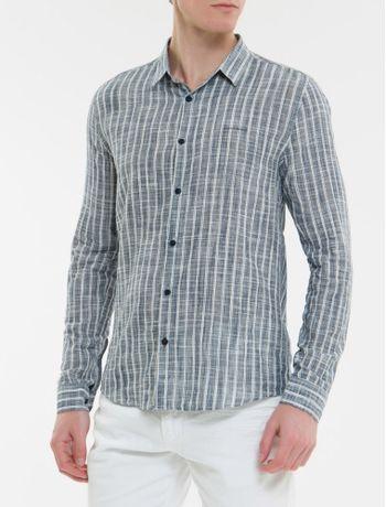 Camisa-Ml-Ckj-Masc-Listrado-Silk-Logo---Marinho-