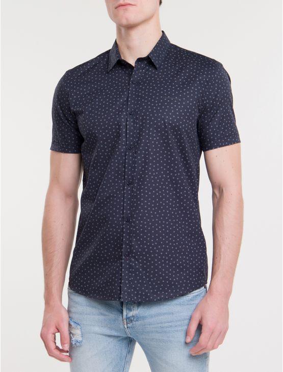 Camisa-Mc-Ckj-Masc-Estampa-Microprint-Do---Marinho