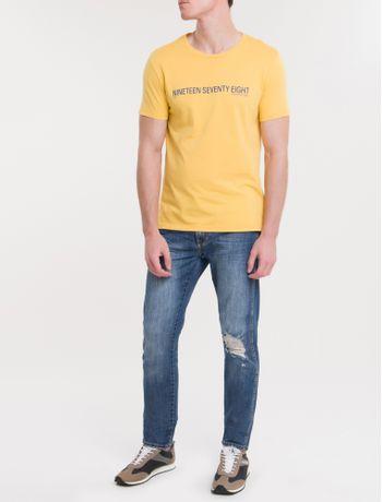 Camiseta-Ckj-Mc-Est-Nineteen---Mostarda