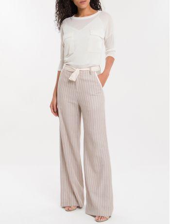 Calca-Pantalona-Nilo-Calvin-Klein---Caqui-Claro