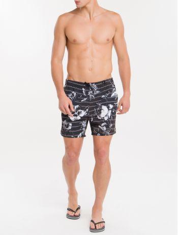 Shorts-Dagua-Ckj-Estampada-Listra-Flower---Preto-