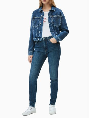 Calca-Jeans-Fem-Five-Pockets-High-Rise-S---Azul-Escuro