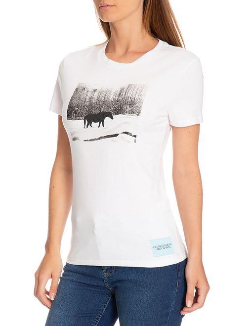 Blusa Ckj Fem Mc Andy Warhol Landscape - Branco