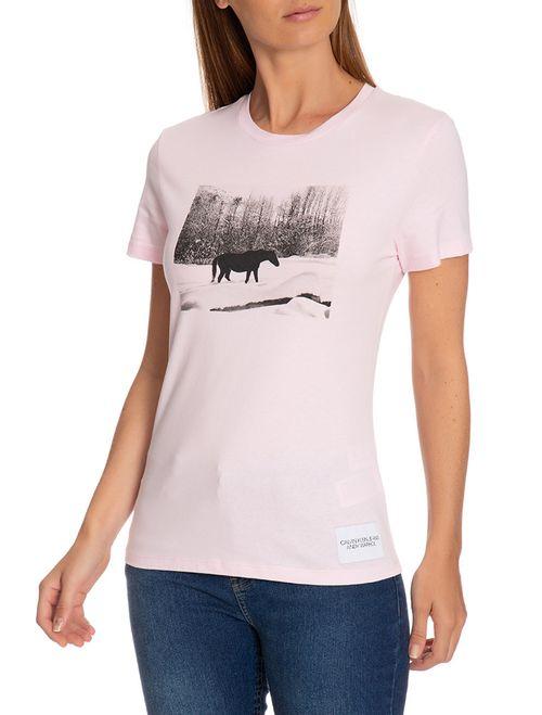 Blusa Ckj Fem Mc Andy Warhol Landscape - Rosa Claro