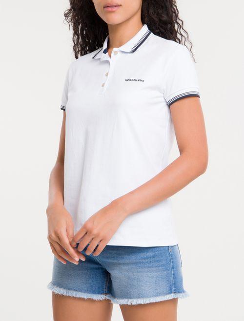 Polo Ckj Logo Calvin Jeans Friso Duplo - Branco 2