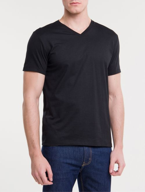Camiseta Ckj Mc Dec V Essentials - Preto