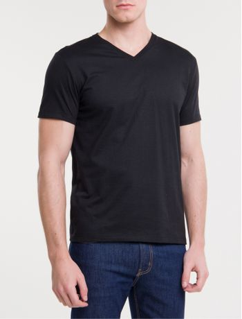 Camiseta-Ckj-Mc-Dec-V-Essentials---Preto