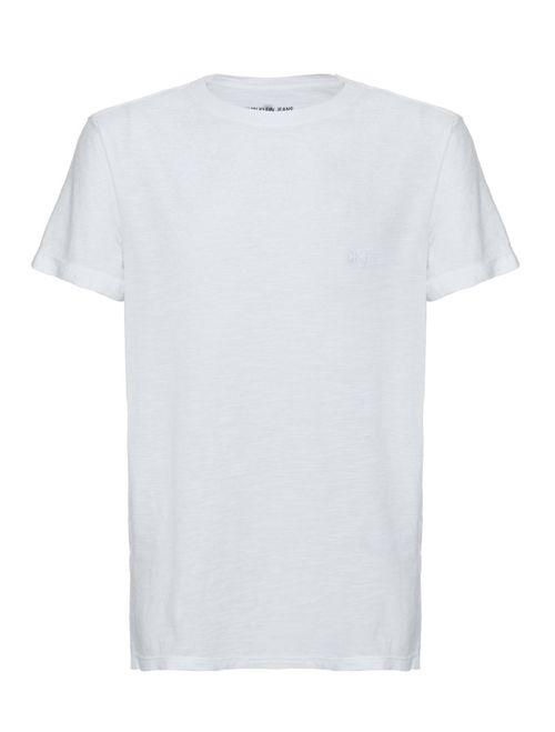 Camiseta Ckj Bordado Peito - Branco 2