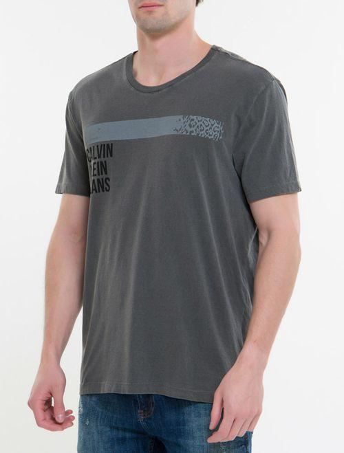 Camiseta Ckj Mc Est Denim Corporation - Chumbo