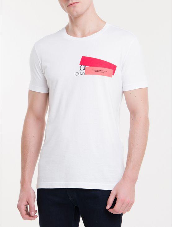 Camsieta Slim Calvin Klein True Vision - Branco 2