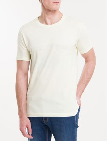 Camiseta-Regular-Calvin-Klein-Tricolor---Amarelo-Claro