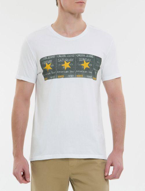 Camiseta Ckj Mc Ticket Estrela - Branco 2