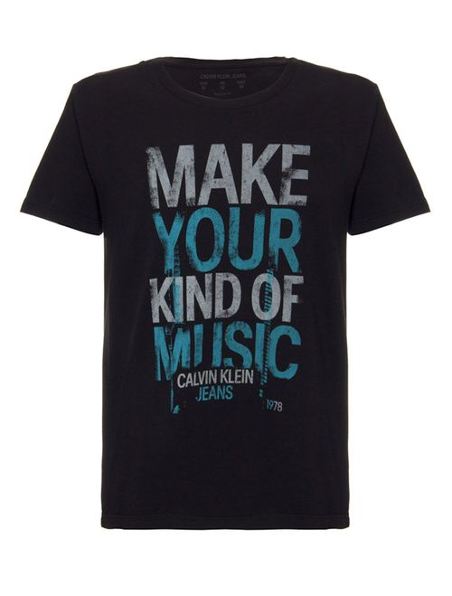 Camiseta Ckj Make Your Kind - Preto