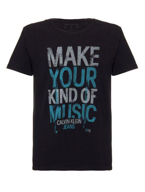 Camiseta Ckj Make Your Kind - Preto