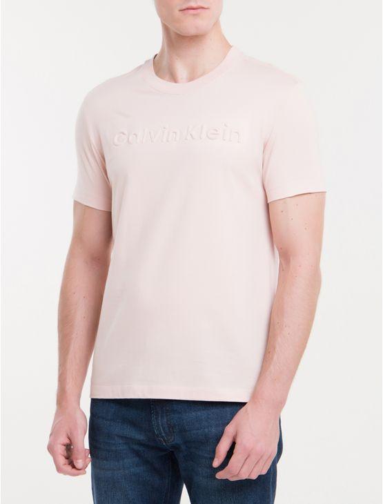 Camiseta-Slim-Logo-Relevo---Rosa-Claro