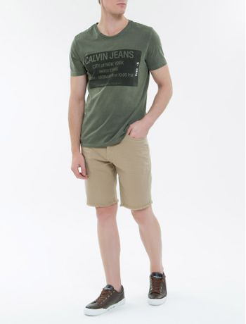 Camiseta-Ckj-Mc-Ticket-Calvin-Jeans---Militar