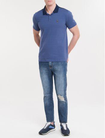 Polo-Ckj-Mc-Termocolante-Calvin-Jeans---Azul-Escuro