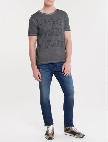 Camiseta-Ckj-Mc-Est-Logo-Double-Face---Chumbo