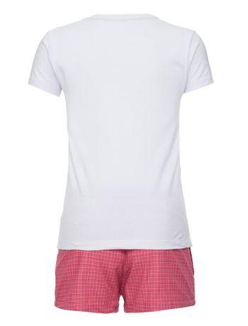 Pijama-M-C-Tricoline-Xadrez-Infantil---Branco-2