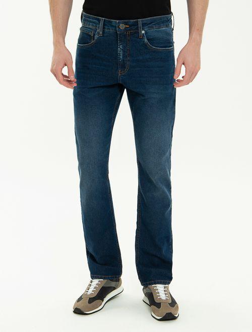 Calça Jeans Five Pockets Straight - Marinho