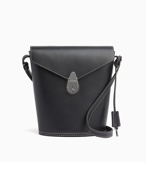 Bolsa Calvin Klein Pequena Locked Bucket - Preto