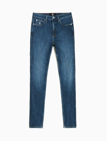 Calca-Jeans-Fem-Five-Pockets-High-Rise-Skinny---Azul-Escuro