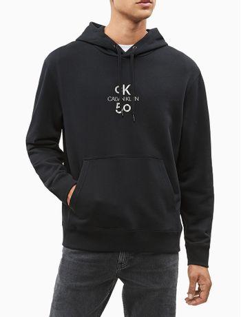 Blusa-Ml-Masc-Logo-Relaxed-Com-Capuz-CK50---Preto