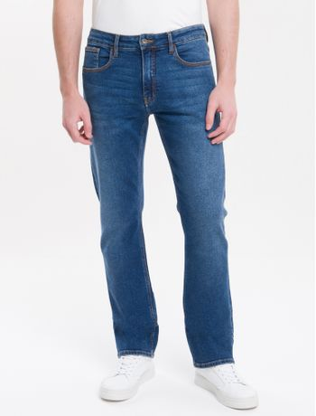 Calca-Jeans-Five-Pockets-Straight---Azul-Medio