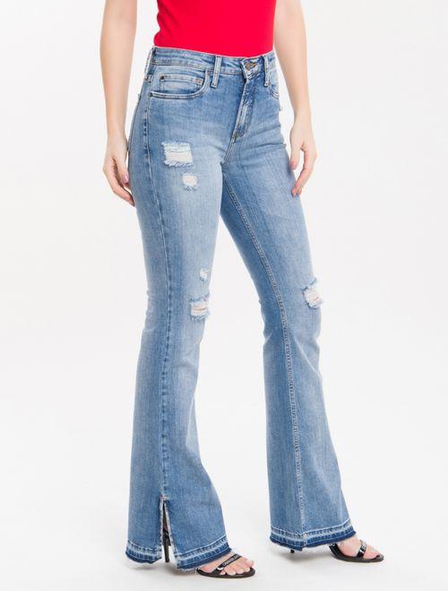 Calça Jeans Five Pockets Ckj 041 Mid Rise Flare