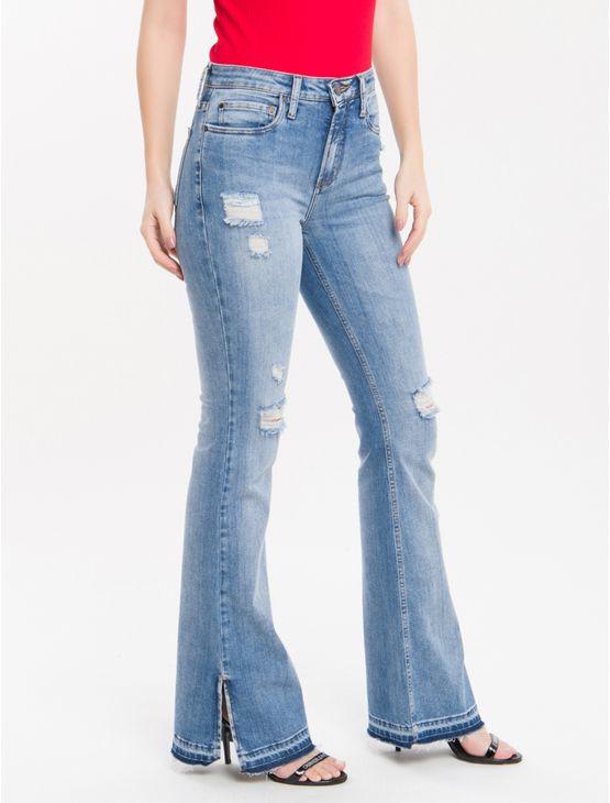 Calca-Jeans-Five-Pockets-Ckj-041-Mid-Rise-Flare