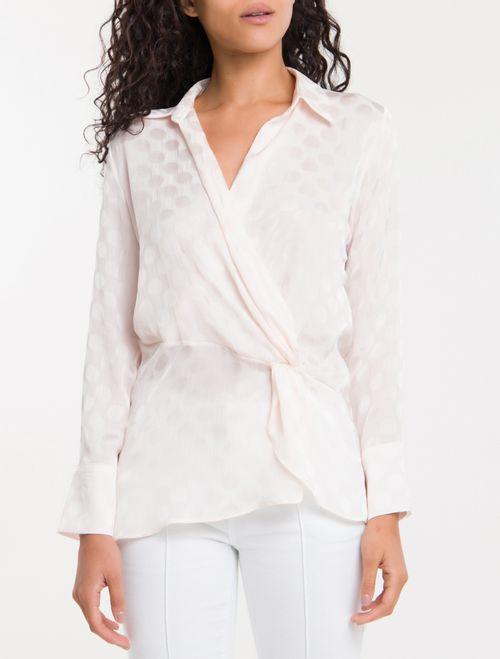 Camisa Poa Devoré Calvin Klein - Branco 2