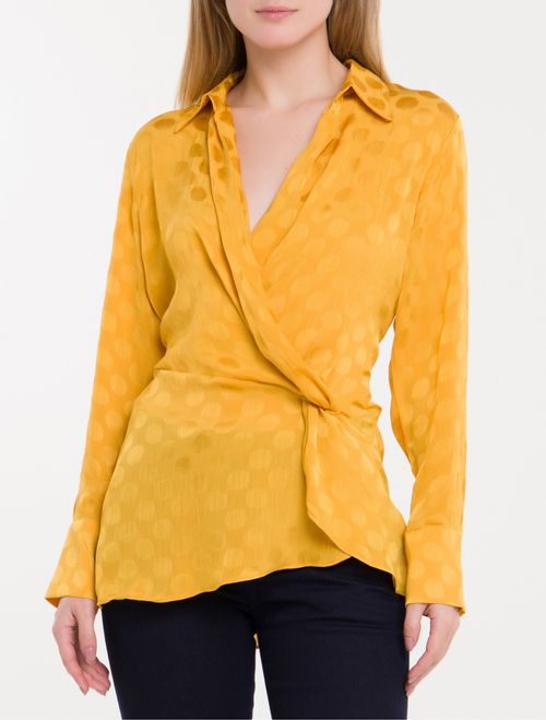 Camisa Poa Devoré Calvin Klein - Mostarda