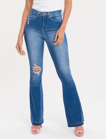 Calca-Jeans-Five-Pockets-Ckj-040-High-Rise-Flare
