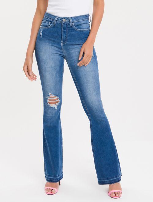 Calça Jeans Five Pockets Ckj 040 High Rise Flare