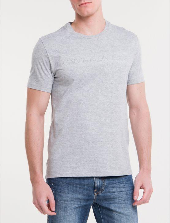 Camiseta-Ckj-Mc-Logo-Debossed---Mescla