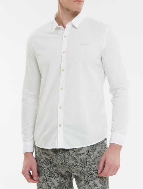 Camisa Ml Ckj Masc Tinturado Com Silk Lo - Branco 2