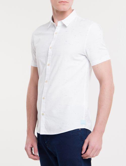 Camisa Mc Ckj Masc Flame Silk Logo - Branco 2