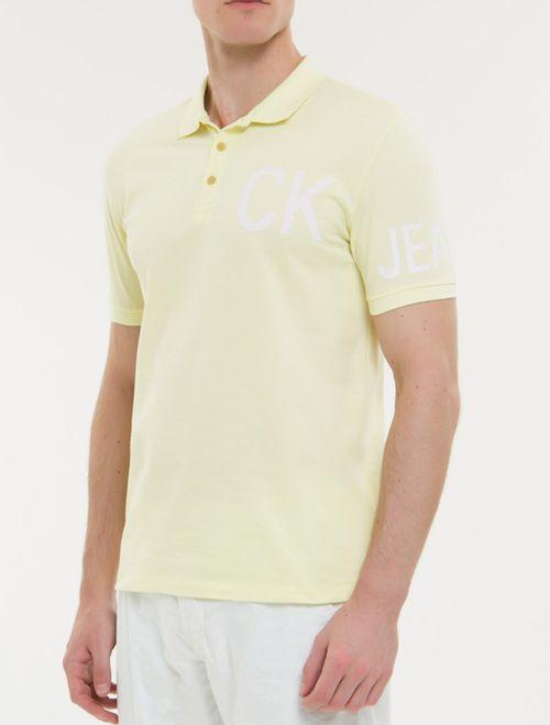 Polo Ckj Mc Silk Ck Jeans - Amarelo Claro