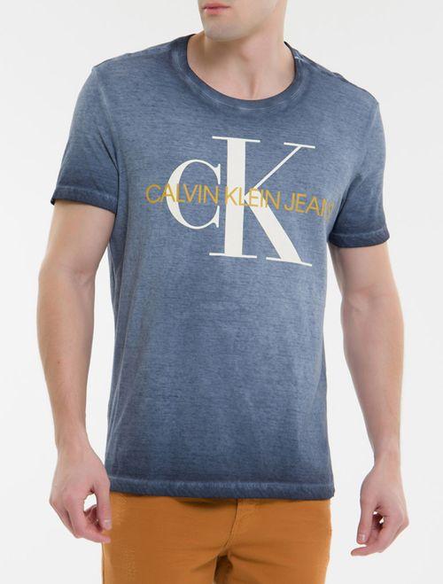 Camiseta Ckj Mc Est Re Issue - Marinho
