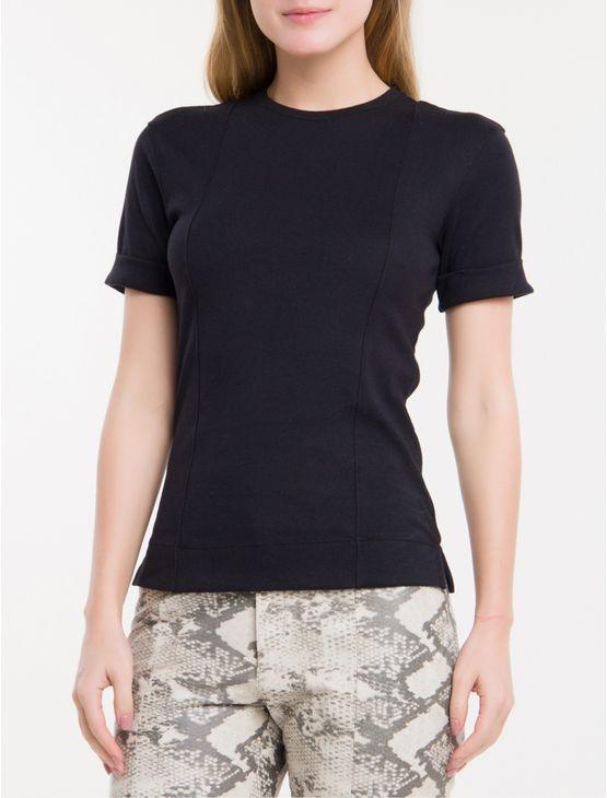 Camiseta-Recortes-Calvin-Klein---Preto