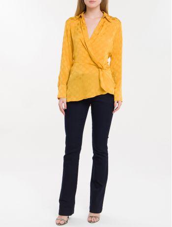 Camisa-Poa-Devore-Calvin-Klein---Mostarda