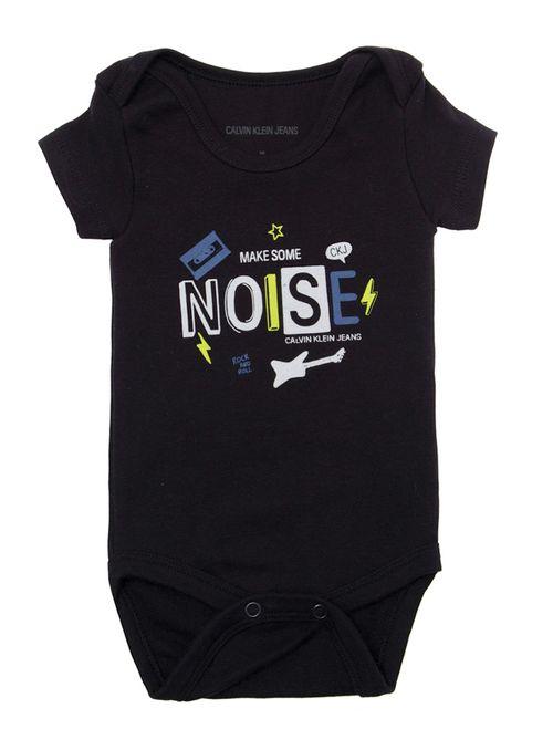 Body M/C Ckj Bebê Make Some Noise - Preto