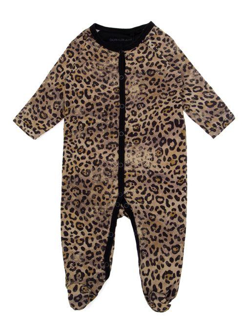 Macacão Ckj Baby Animal Print - Areia