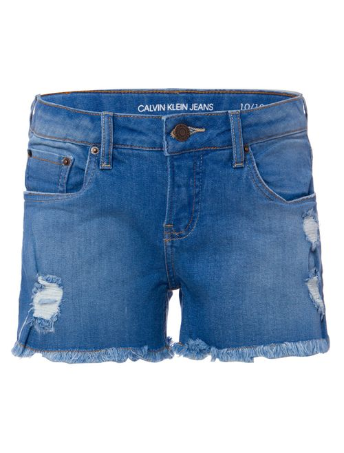 Shorts Jeans Five Pockets - Azul Médio