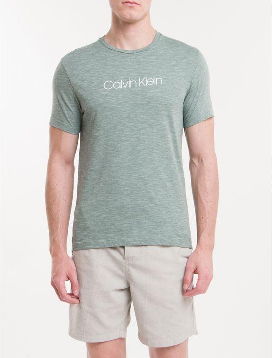 Camiseta-Regular-Basica-Flame-Mescla-Ck---Verde-Claro