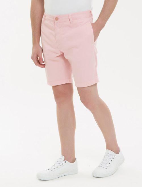 Bermuda Color Chino - Rosa Claro