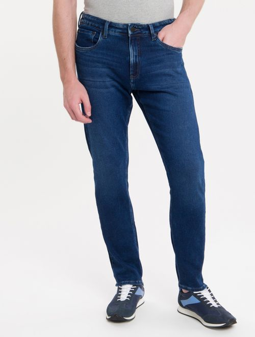 Calça Jeans Five Pockets Athletic Taper - Marinho