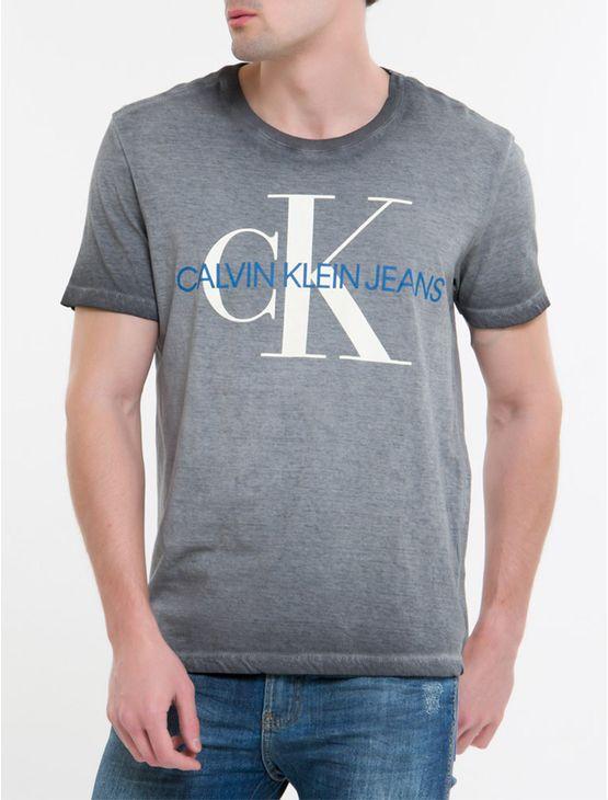 Camiseta-Ckj-Mc-Est-Re-Issue---Chumbo