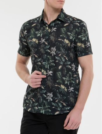 Camisa-Mc-Ckj-Masc-Estampa-Floral-Jungle---Preto