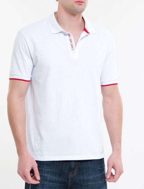 Polo Ckj Mc Silk No Peitilho - Branco 2